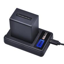 1 Pièces 4500mAh NP-FV100 NP FV100 NPFV100 FV100 Batterie + LCD USB Chargeur pour SONY NP-FV30 NP-FV50 NP-FV70 SX83E SX63E FDR-AX100E