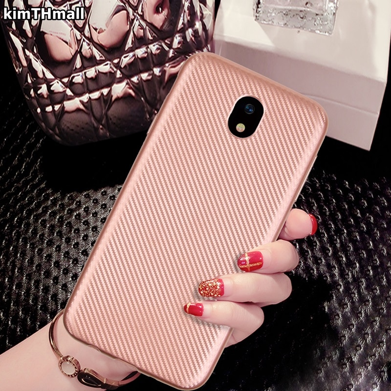 Caso Para Samsung Galaxy J330 J3 J5 J7 J530 J730 2017 de volta capa ultra fina TPU Macio capa de silicone para Galaxy J3 J5 J7 kimTHmall