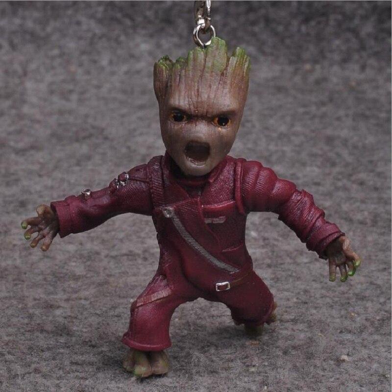 Guardians of the Galaxy 2 Dança Árvore Man Action Figure Keychain Coleção Modelo 2017 Nova Estatueta boneca bobby partido oyuncak