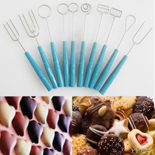 Gran oferta 10 Uds Chocolate Dipping Forks fiesta Fondue torta decoración manualidades Juego de Herramientas Y110-Dropshipping