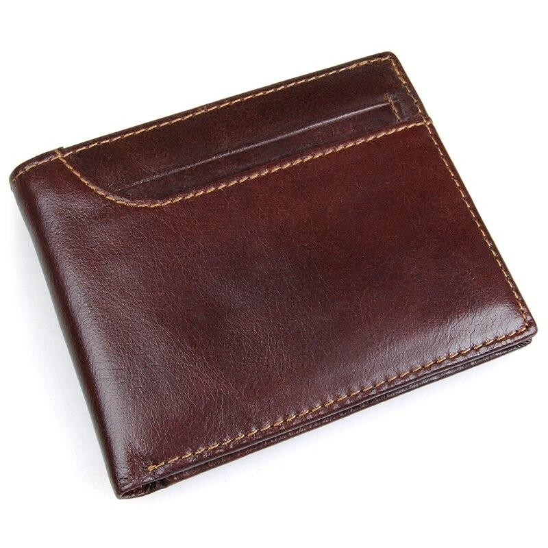 J.M.D New Men RFID Blocking Leather Credit Card Holder Trifold Wallet with Back Pocket  R-8104Q
