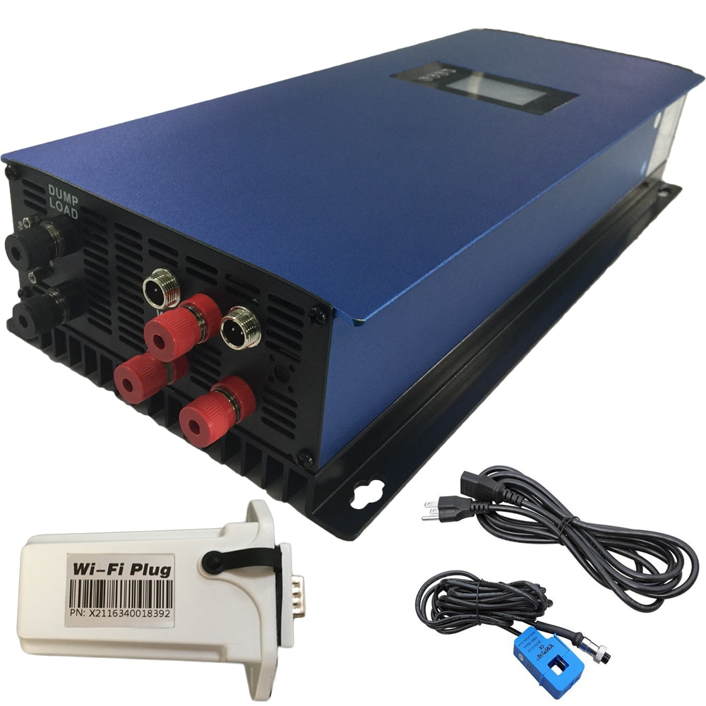 Viento 2000W inversor de conexión a red de 3 Fase AC turbina aerogeneradora MPPT inversor de viento con carga de descarga resistencia 2000G2WAL-LCD