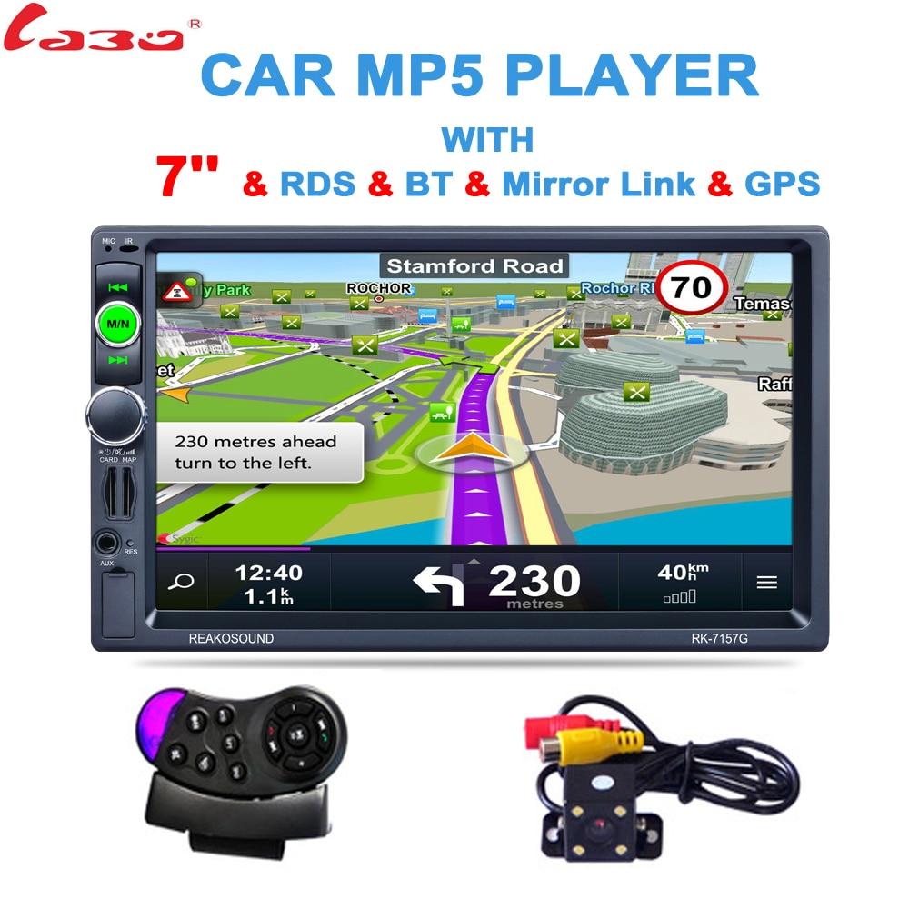 2 Din 7 polegada HD GPS Do Carro Navegação 800 MHZ FM/8 GB/DDR3 2017 Mapas Para A Rússia bielorrússia/Europa/EUA + Canadá CAMINHÃO Campista Caravana Satnav