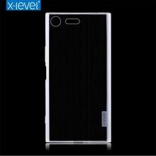 X-level para sony xperia xz caso premium alta qualidade casos de silicone macio caso transparente para sony xperia xz premium capa traseira