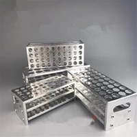 15 5 21 5mm inner diam 3040 holes aluminum test tube stand rack holder labware