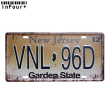 Металлическая Автомобильная номерная знак VNL96D, винтажный домашний декор, металлическая жестяная вывеска, декоративные металлические знак,...