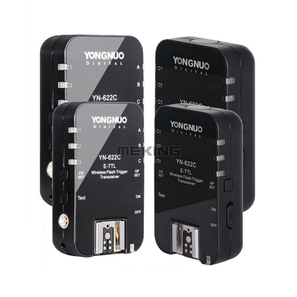 4 Uds Yongnuo inalámbrico HSS iTTL disparador de flash YN622 N 1/8000s para Nikon D7100 D7000 D5200 D5100 D5000 D3200 D3100 D3000