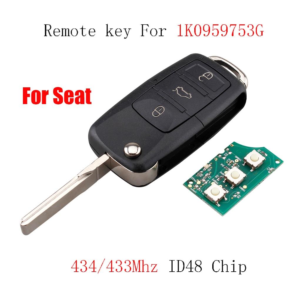 Автомобильный Дистанционный Ключ DIY для сиденья Altea-built Leon Toledo 2004 2005 2006 2007 2008 2009 2010 2011 1K0959753G/HLO 1K0 959 753G