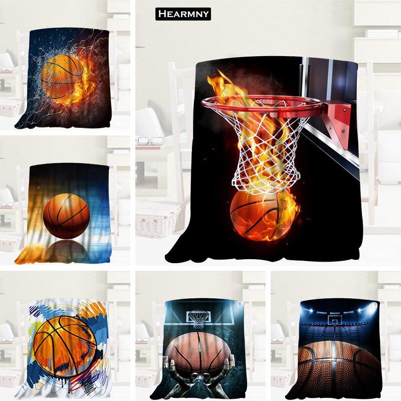 Baketball personalizado Tecido De Flanela Cobertor 120X160 cm, 150X180 cm, 175X200 cm Sofá Cama Throw Blanket Adulto Cobertor Quente