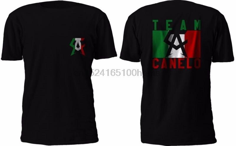 Camiseta negra del equipo canelo saul Alves, camiseta mexicana de kick boxing,...