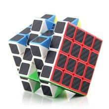 Moyu mf4 fibra de carbono adesivos 4x4x4 cubo mágico velocidade profissional quebra-cabeça 4*4*4 cubo brinquedos educativos presentes para crianças