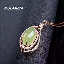 KJJEAXCMY boutique bijoux, 925 pendentif femme en argent Sterling raisin chrysophrase naturel or rose Taobao chaud