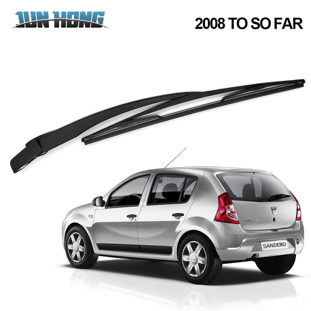 JunHong Rear Wiper Blade And Arm For DACIA  Sandero 2008 TO SO FAR Windscreen Rubber Car Accessories Rear Window