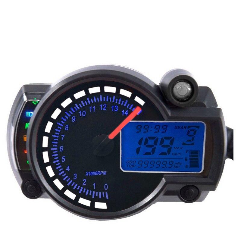 Odómetro de motocicleta MAX 299 km/h 15000r/min KOSO RX2N LCD Digital medidor de moto accesorio de velocímetro y piezas ajustables
