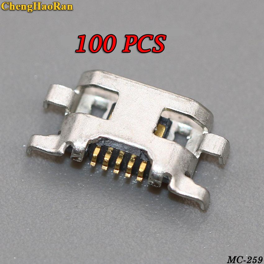 ChengHaoRan 100 piezas Dc Micro USB puerto de carga del conector para...