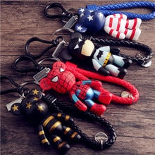 Cartoon violence bear knitted rope keychain car key popobe womens key chain