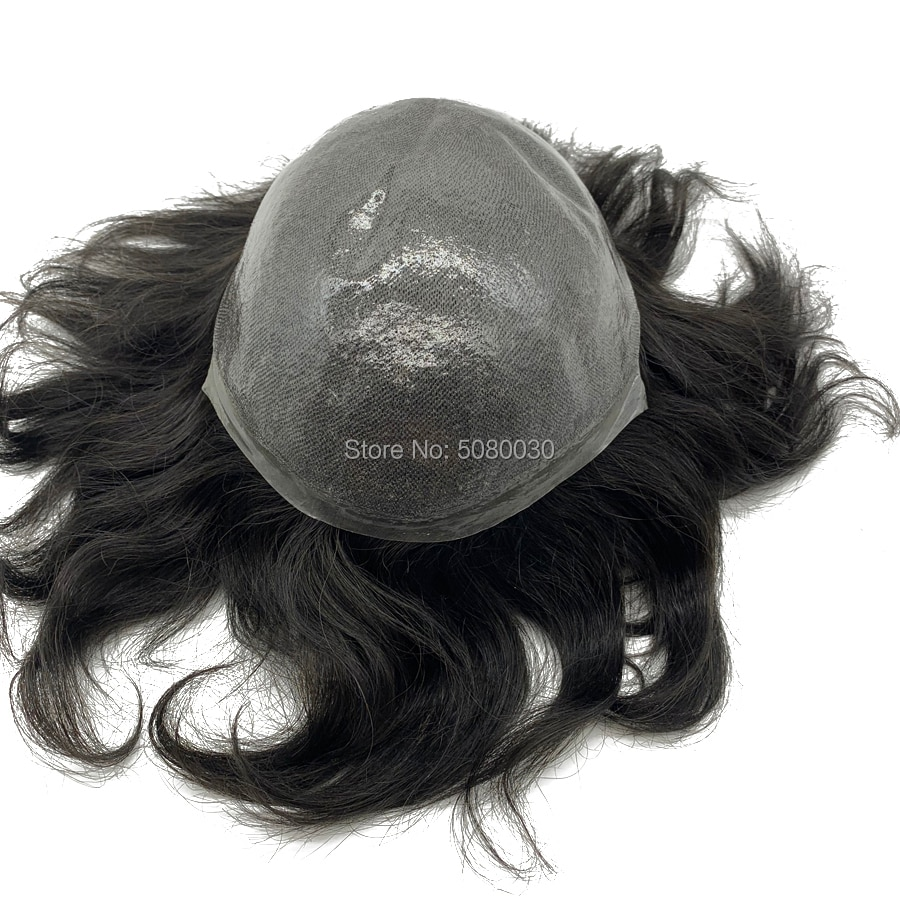 Thin skin toupee natural hairline remy hair pieces stock
