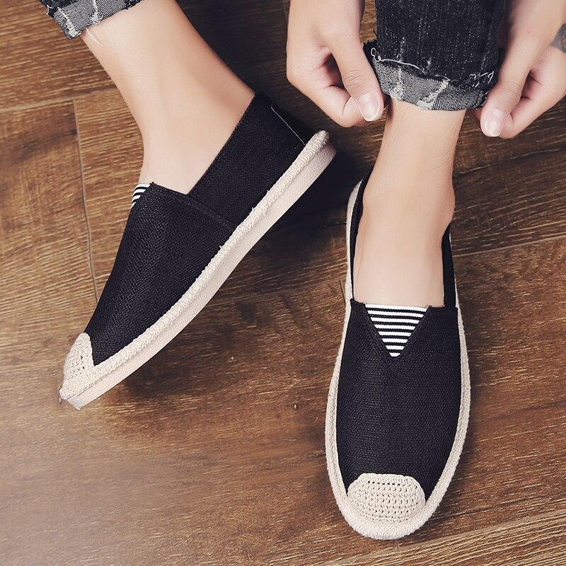BVNOBET confort toile hommes chaussures hommes baskets Style rétro adulte chaussures Denim paresseux chaussures hommes mocassins Sapato Masculino Plimsolls