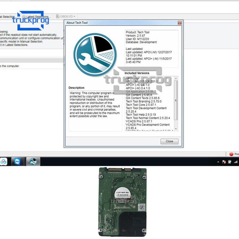 Software de diagnóstico de camiones herramienta de tecnología superior PTT 2.5.87 + 1,12 modelo de desarrollo excavadora de trabajo pesado diagnóstico de vehículos