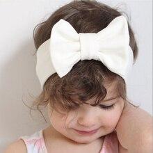 Детская повязка на голову с бантом, Вязаная хлопковая эластичная повязка на голову для девочек, тюрбан для девочек, повязка на голову, летняя повязка на голову