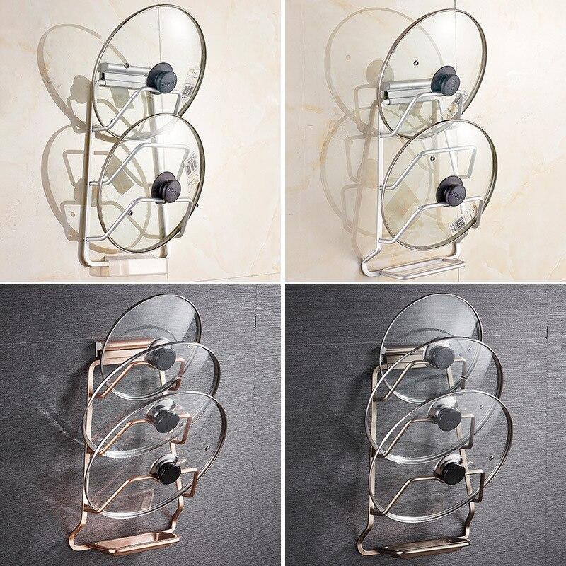 Punch-freies Dual-use-Küche Racks Anhänger Multi-zweck Schneidebrett Raum Aluminium Deckel Rack mit Ablauf fach Organizer