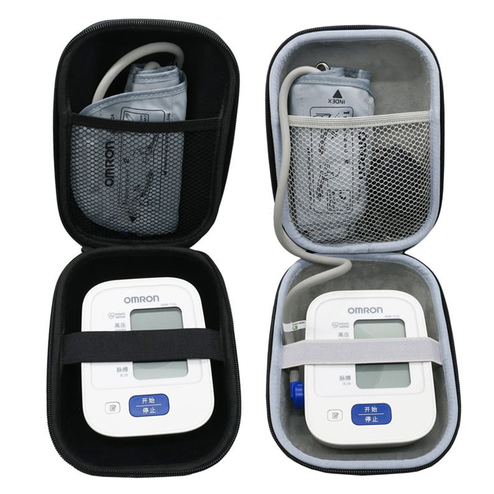 Newest EVA Hard Case for Omron 10 Series Wireless Upper Arm Blood Pressure Monitor (BP786 / BP785N / BP791IT) Travel Storage Box