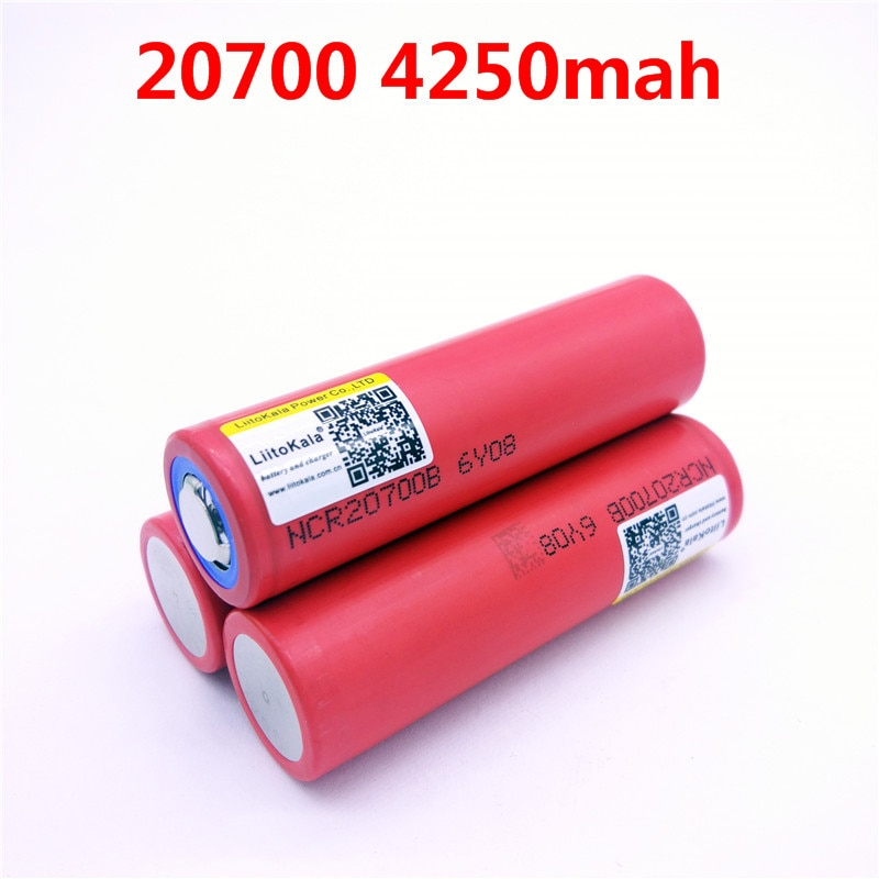 3 шт./лот NCR20700B 20700B Liitokala для 20700 4250 mAh Батарея с высокой скоростью батареи 20A 20700
