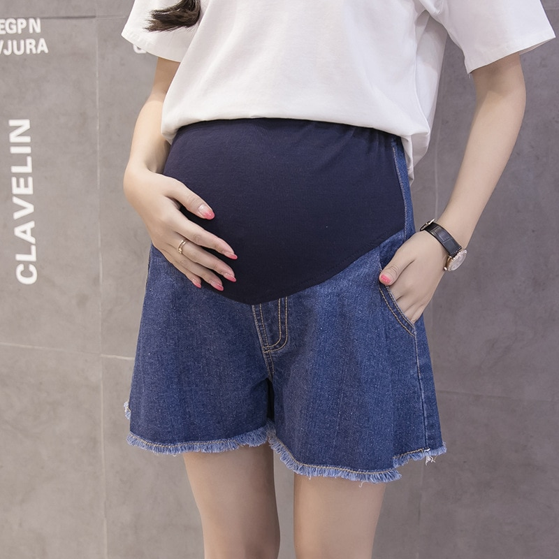BONJEAN новый летний для беременных шорты Для женщин джинсы Свободные Большой