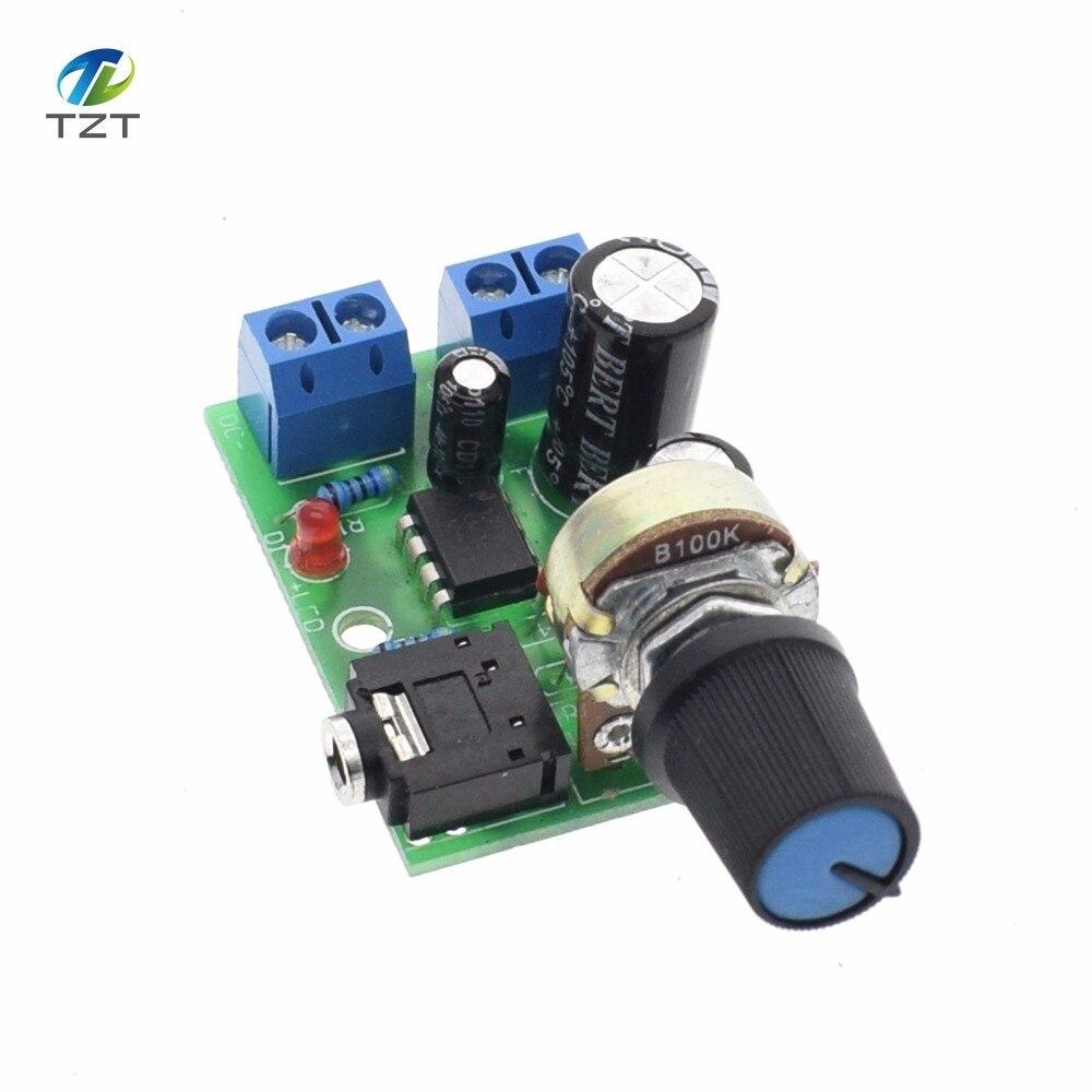 1PC nueva llegada LM386 amplificador de potencia de audio de DC 3V ~ 12V 12 v 5 V Mini módulo AMP volumen ajustable