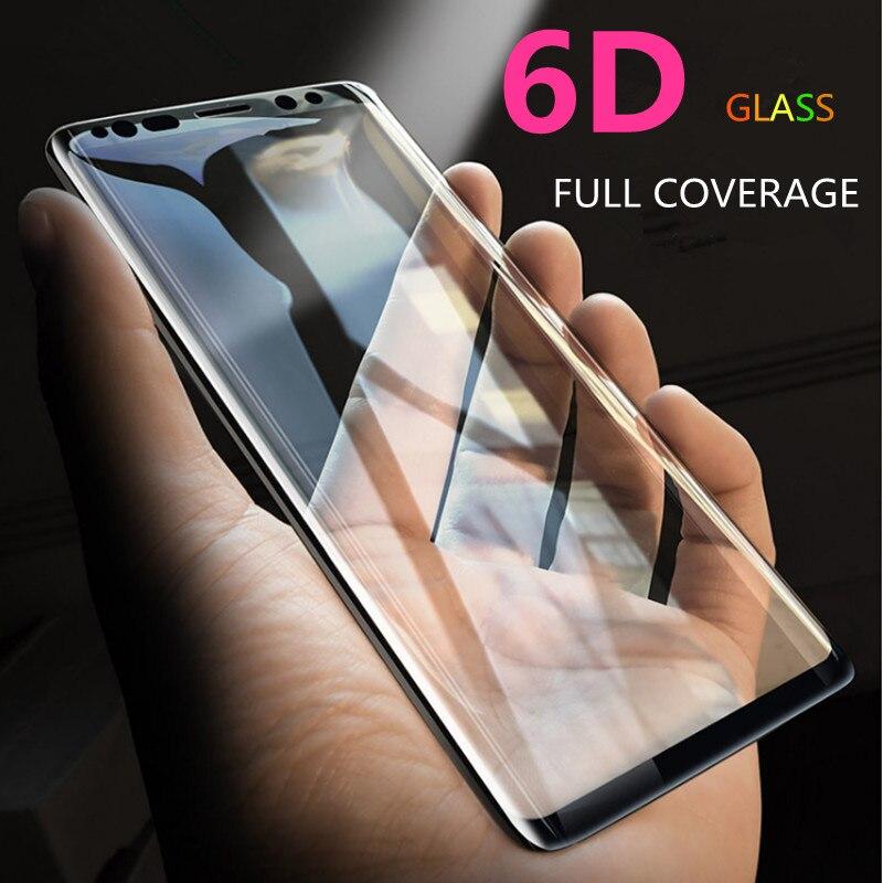 6D полностью изогнутое 5D закаленное стекло для Samsung Galaxy S8 S9 Plus 3D Защитная пленка для экрана S7 Edge Note 8 A6 A8 Plus чехол