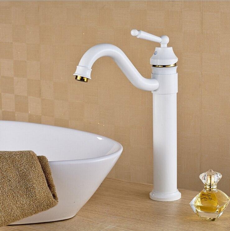 Роскошный латунный хромированный смеситель для ванной комнаты с белой краской, смесители для раковины в ванную комнату, смесители grifos para ...