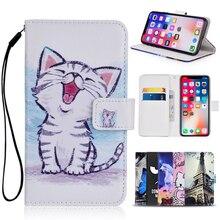 Etui portefeuille dessin animé pour Gigaset GS160 PU cuir mode belle licorne chat papillon béquille livre téléphone sac