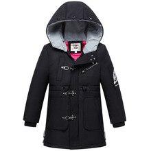 Dollplus 2019 Girls Winter Coat Parkas Hooded Windproof Warm Boys Jackets Fashion Long Kids Down Outerwear Children Windbreaker