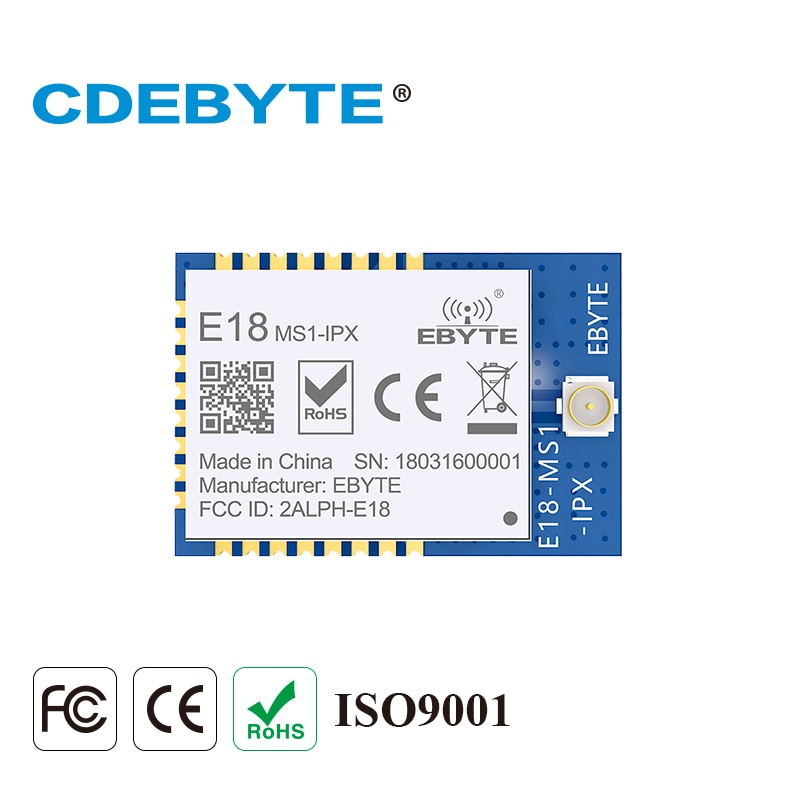 E18-MS1-IPX Zigbee IO CC2530 2.4Ghz 2.5mW IPX Antenna IoT uhf Mesh Network Wireless Transceiver Transmitter Receiver RF Module