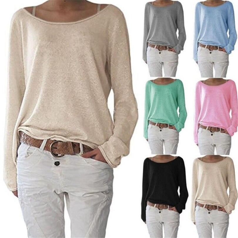 VIIANLES nuevo 2019 camisetas de las mujeres O cuello Casual de manga larga Camiseta mujer Camiseta básica Plus tamaño Tops Blusas 10 colores XXXL