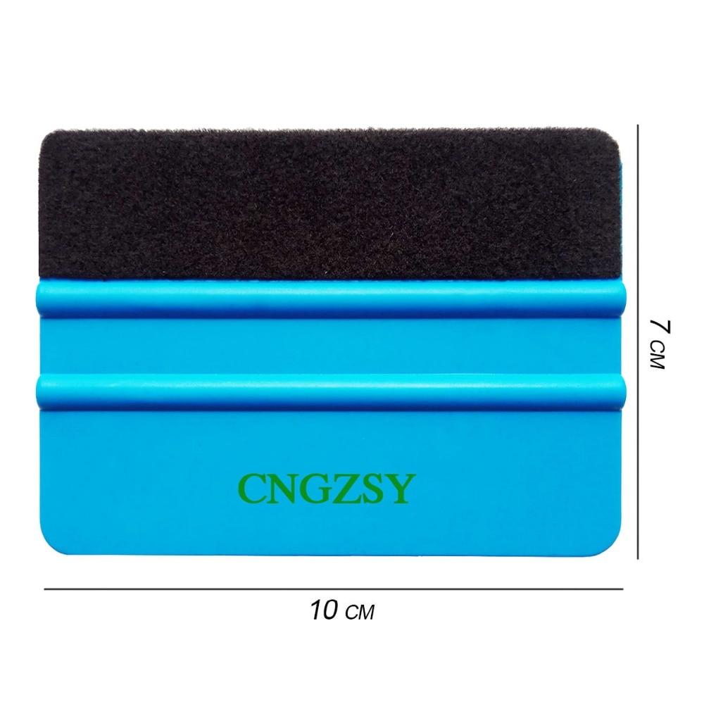 CNGZSY 1000pcs Felt Squeegee Vinyl Car Wrap Tool Carbon Fiber Foil Vinyl Scraper Window Tint Tools Glass Cleaning Tool Brush A02 enlarge