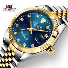 TEVISE Herren Uhren Männer Automatische Mechanische Uhr Edelstahl Datum Wasserdicht Business Armbanduhr Relogio Masculino