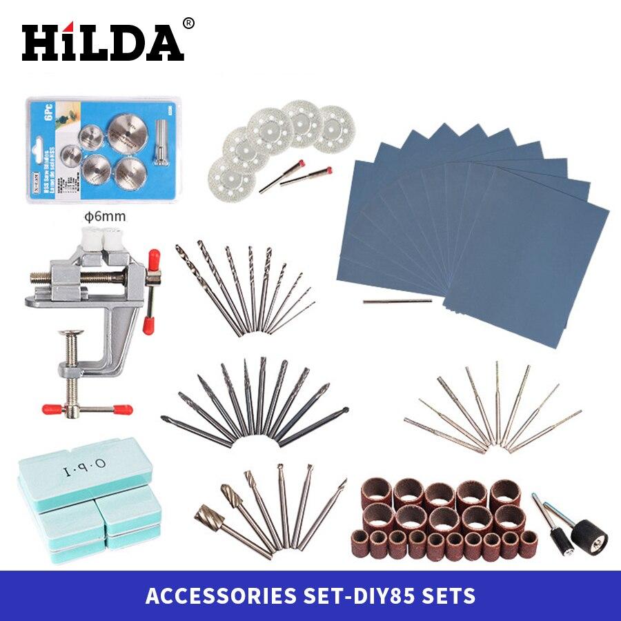 Accesorios HILDA Dremel para Dremel, conjunto de accesorios de herramientas giratorias para Dremel, accesorios de pulido para tallado de taladro