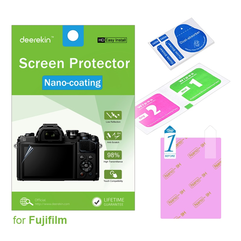 Deerekin HD Nano-revestimento Protetor de Tela w/Top Film LCD para Fuji Fujifilm GFX 50 S GFX50S GFX 50 S GFX50S X-T3 XT3
