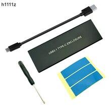 Alüminyum USB 3.1, M.2 SSD NVME HDD muhafaza NGFF PCI-E, C Tipi Konnektör Sabit disk sürücüsü Durumda JMS583 SSD Kutusu için masaüstü bilgisayar
