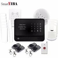 SmartYIBA-systeme dalarme domestique G90B Plus  wi-fi  GSM  Kit de bricolage  fonctionne avec camera IP  controle a distance avec application  alarme de mouvement durgence SOS