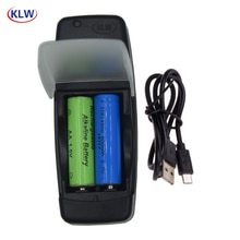 2 slots Smart USB Batterij Oplader voor Oplaadbare 1.2 V AA AAA NiMh NiCd 1.5 V Alkaline 3.7 V Lithium batterij acculader