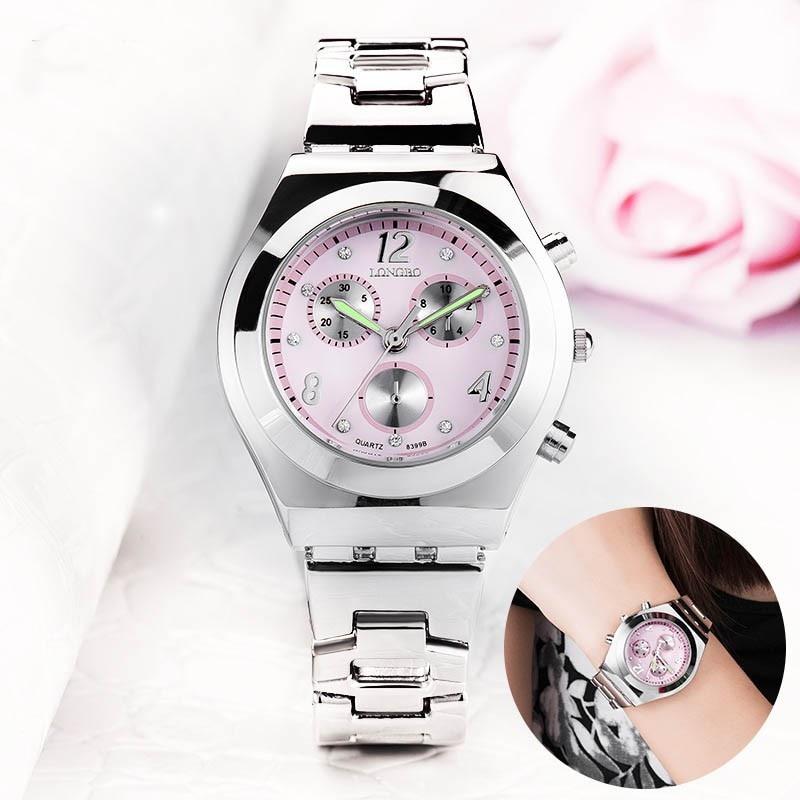 Relojes elegantes de marca para mujer, reloj de cuarzo casual, resistente al agua, relojes de regalo para mujer, correa de acero inoxidable hodinky Montre Femme
