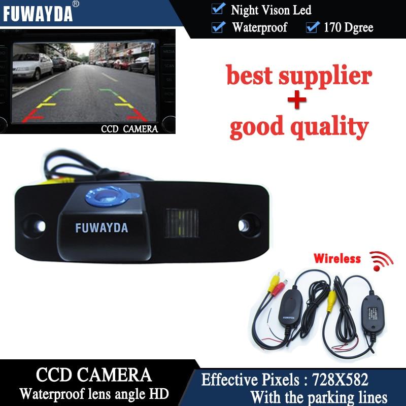 Kit de cámara de aparcamiento para Hyundai Tucson Accent Elantra Terracan Veracruz Sonata, vista trasera de coche inalámbrica FUWAYDA