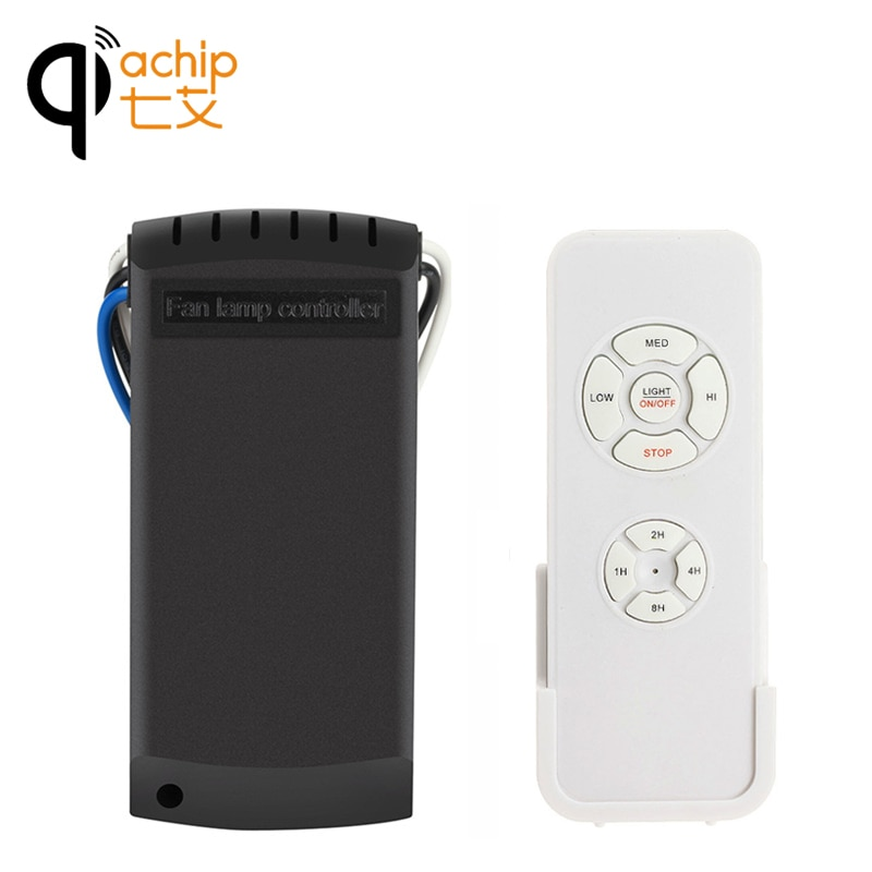 Универсальный потолочный вентилятор QIACHIP, переключатель регулятора скорости, беспроводной пульт дистанционного управления