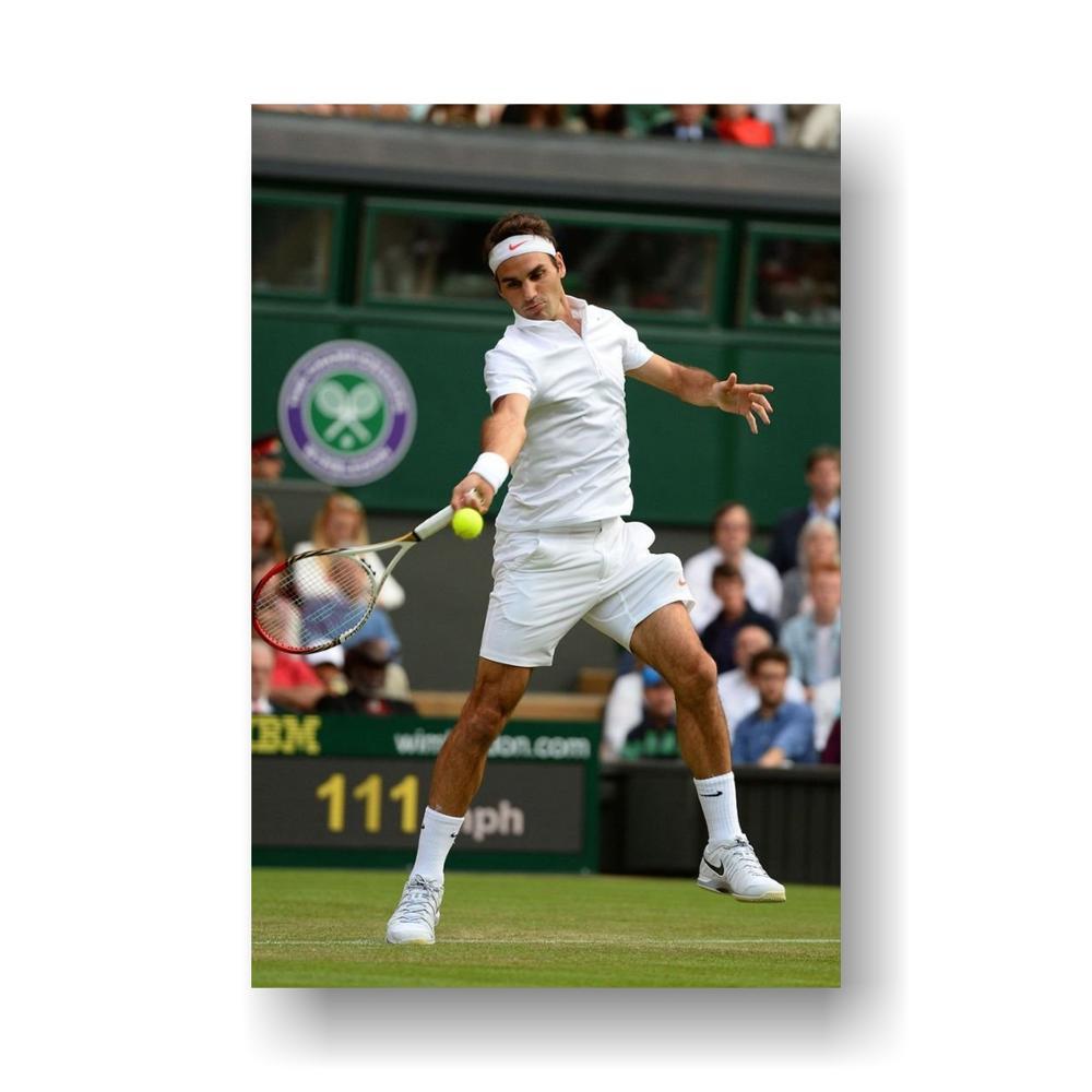 Jogadores De Tênis Roger Federer Cartaz 36 polegada x 24 polegada/18 polegada x 12 polegada