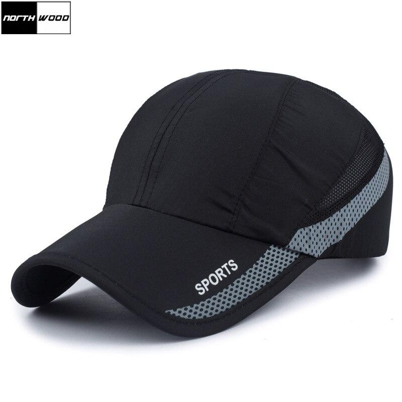 [NORTHWOOD] 2018 Fashion Summer Cap Mens Baseball Cap Women Sun Cap Breathable Quick Drying Dad Hat Sport Snapback Cap