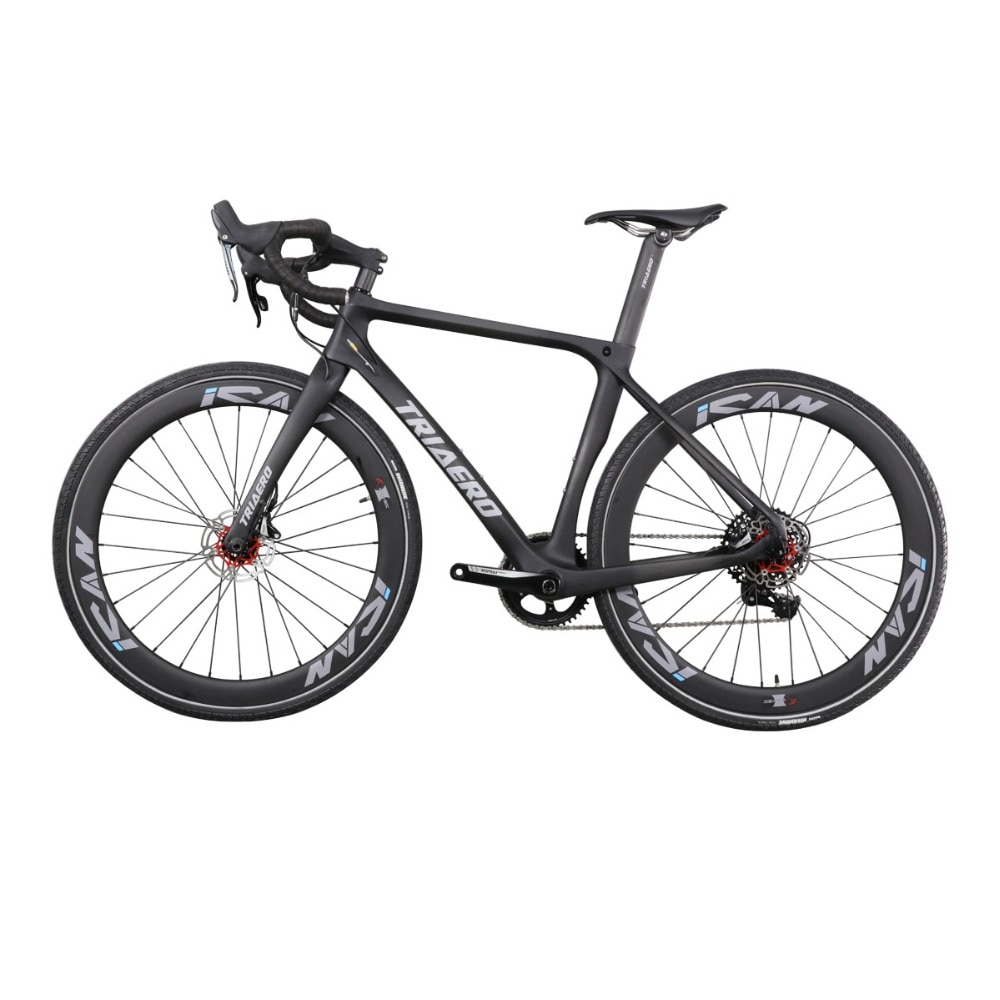 11,11 2019 carbono camino de montaje plano freno de disco completo cuadro de bicicleta tamaño en 48 50 52 54 56cm a través del eje de la bicicleta de freno de disco de carretera