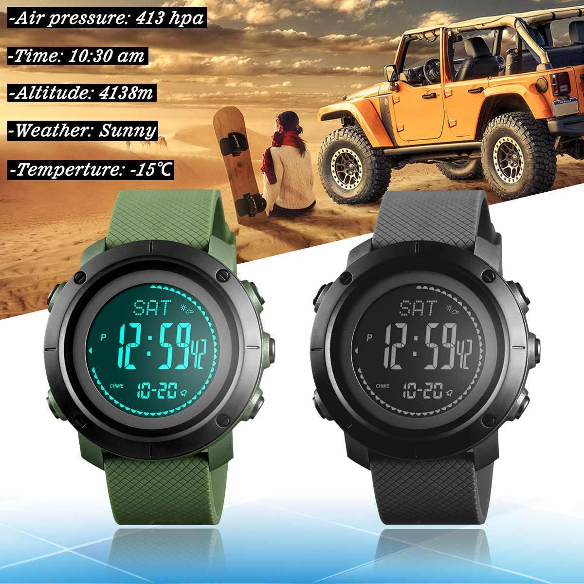 Relojes deportivos Skmei para hombre, reloj Led Digital militar de buceo para hombre, relojes de pulsera electrónicos casuales a la moda, reloj inteligente para hombre