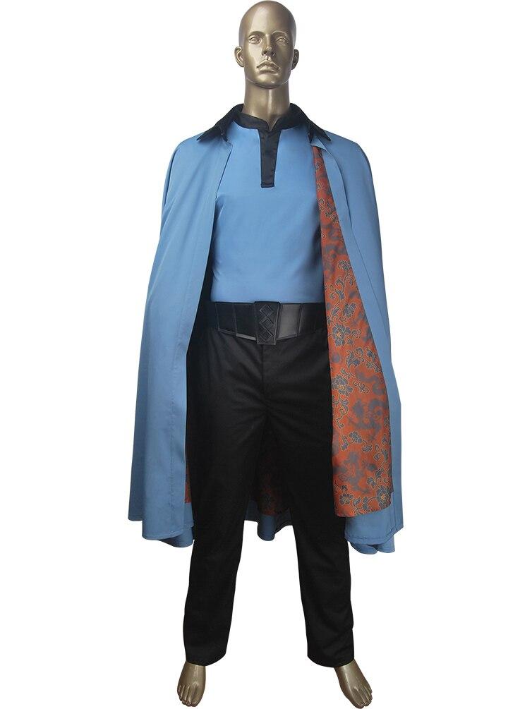 Solo un cosplay de Star Wars Lando Calrissian, disfraz de halloween, película space Western sinverl, disfraz de Carnaval